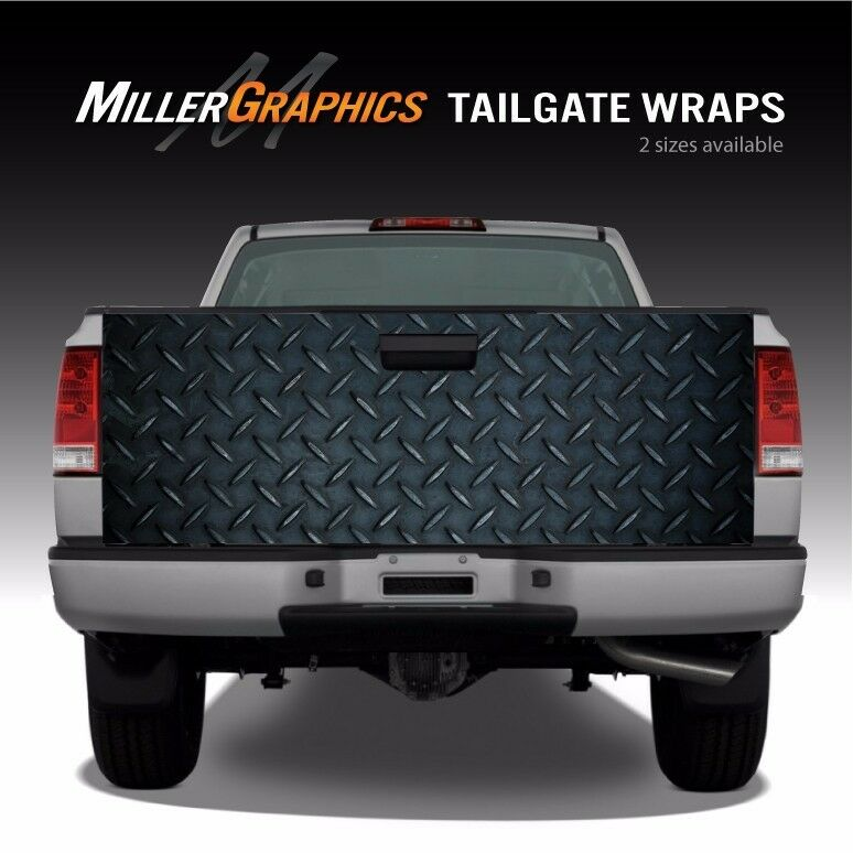 Diamond Plate Metal Truck Tailgate Wrap Graphic Decal