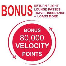 80,000 Virgin Velocity Points, Return Flight + Lounge + Insurance West Perth Perth City Preview