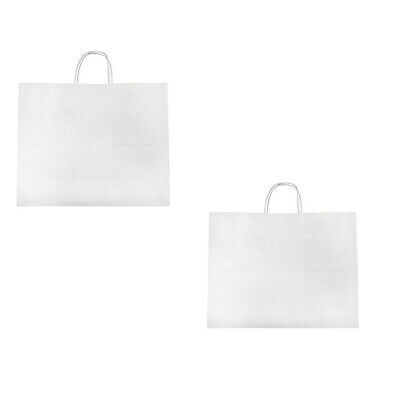 16 X 6 X 12 White Recycled Paper Vogue Shopping Bag - 2 Pc