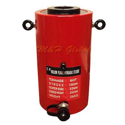60 Ton 4 100mm Stroke Hydraulic Hollow Plunger Cylinder