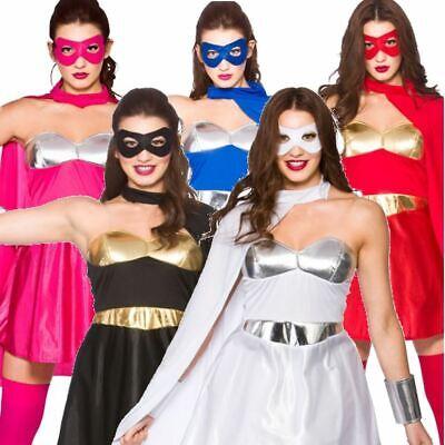 Ladies Adults Superhero Costume Fancy Dress Book Week Comic Outfit Super - Super Hero Fancy Dress Kostüm