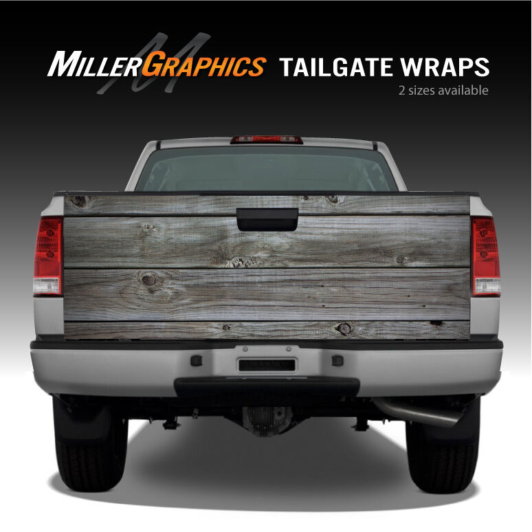 Colorado Flag Distressed Wood Vintage Truck Tailgate Vinyl Graphic Decal Wraps