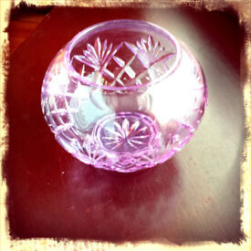 CAITHNESS CRYSTAL Rose Bowl - lIMITED COLLECTION ROSE VASE