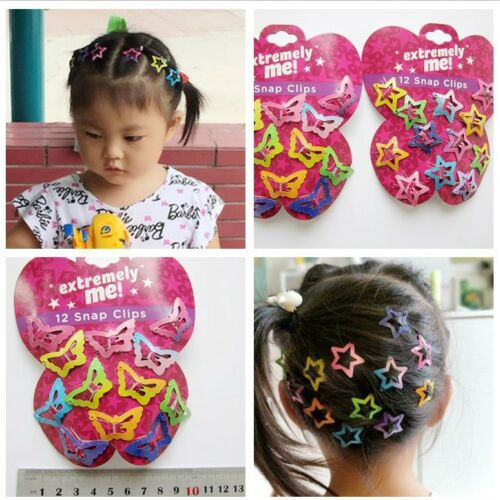 48 Pcs Star Butterfly Hair Clips Snaps For Girls Baby Kids H