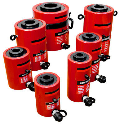 20 Ton Hollow Plunge Hydraulic Cylinder 50mm Stroke 160mm Closed Height