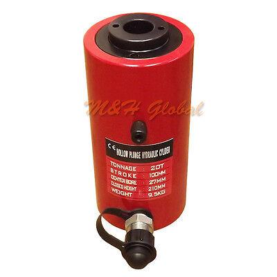 20 Ton 4 100mm Stroke Hydraulic Hollow Plunger Cylinder