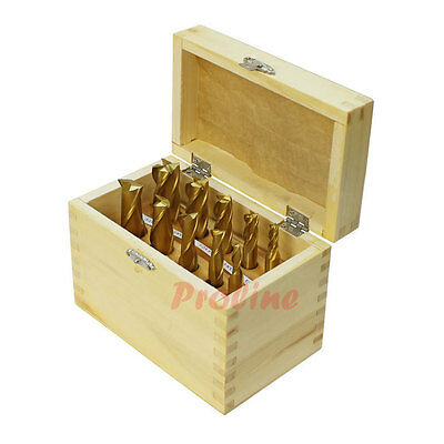 10 Pc 34 - 14 Hss 4 2 Flute Tin Coated End Mill Set Single End Mill