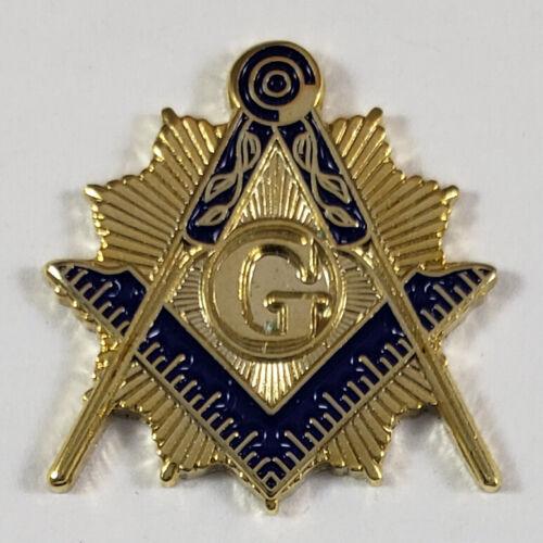 Masonic Square & Compasses Light Lapel Pin Mason (SCA) Freemason
