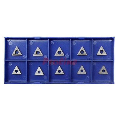 10 PC 1/4'' Inserts C6 Carbide Tip for Turning Tool Bit TCMT 1815 -