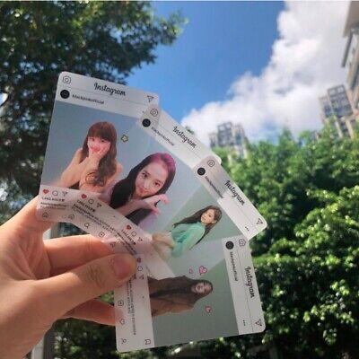 8pcs Set Kpop BLACKPINK Instagram Plastic Photocard K-POP Event photo card New
