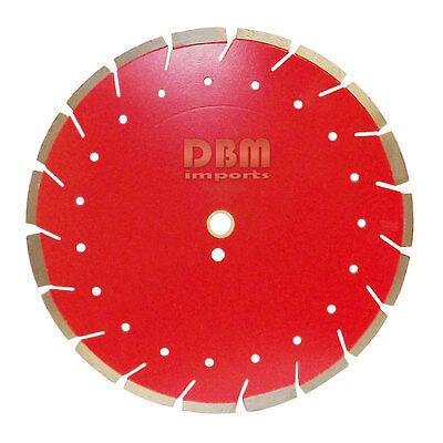 14 X .125 X 1 - 20mm Diamond Combo Saw Blade Cut Concrete Brick Stone Wet Dry