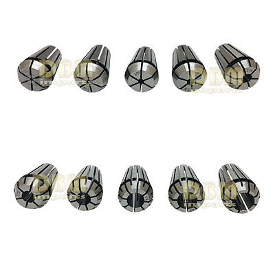 10 Pc Er16 Spring Collet Set 132 - 38 Precision Hardened 1mm -10mm