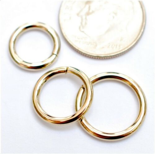 14k Solid Yellow Gold Seamless Ring Nose Piercing Hoop Helix Lobe Haith Conch