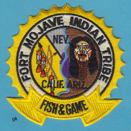 FORT MOJAVE INDIAN TRIBE TRIBAL FISH & GAME POLICE SHOULDER PATCH  (CA. AR  NV)