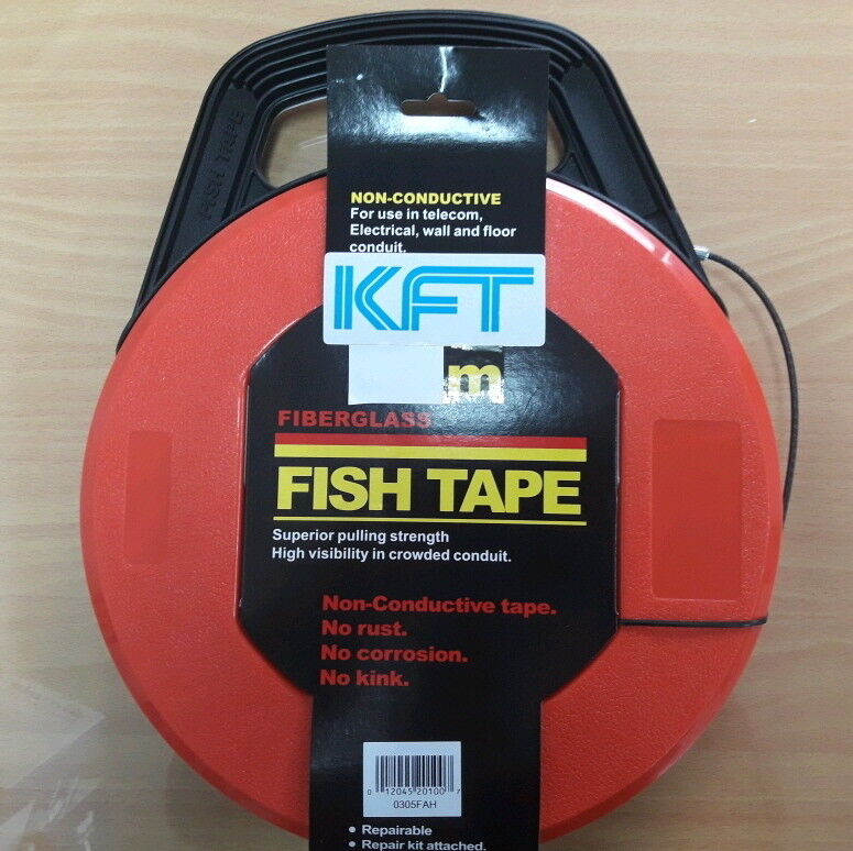 New 50 Feet Of Non Conductive No Rust Nylon Cable Fish Tape Wire Puller