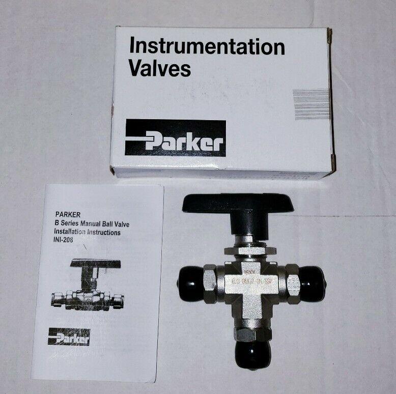 Parker B Series Ball Valve 6LO-B6XJ2-BN-SSP(INI-208)