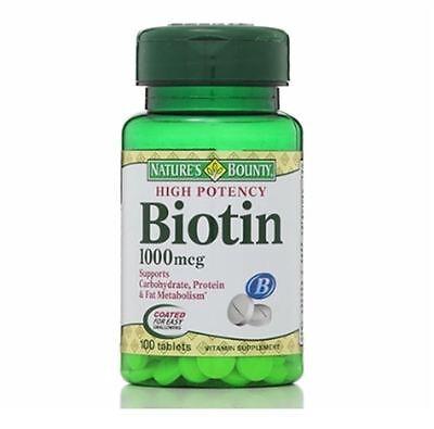 Nature's Bounty Biotin 1000 mcg Tablets 100 Tablets