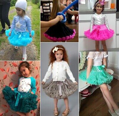 ADULT TEEN KIDS GIRL TUTU SKIRT DRESS PETTISKIRT FLUFFY RUFFLED DANCEWEAR ZG9 (Pettiskirt Adult)