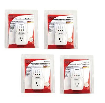 4 Lot Pack Appliance Ac Brownout Voltage Surge Protector 3600 Watts Va