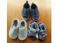 3 x baby boys shoes all size infant 3
