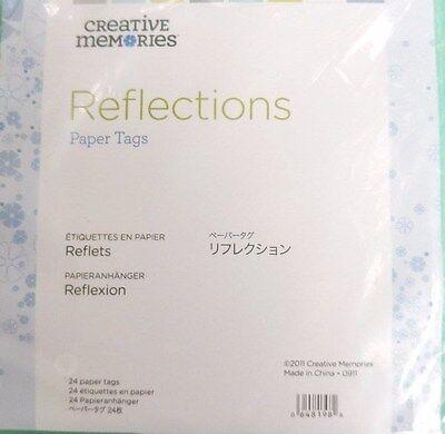 "CREATIVE MEMORIES Papieranhänger/Paper-Tags Designpapier ""REFLECTIONS"""
