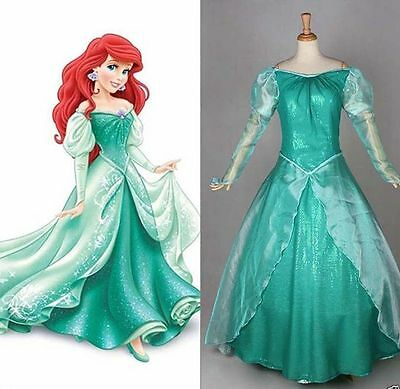Little Mermaid Dresses For Adults (newHalloween Costumes for Adult The Little Mermaid Ariel Costume Princess Dress)