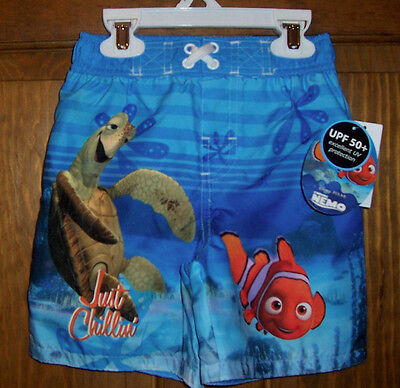 Nemo Disney Swim Bathing Suit Trunks Shorts UPF 50+ Toddler Boys Size 3T $20