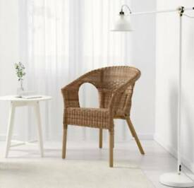 TWO AGENWICKER/BAMBOO CHAIRS FROM IKEA
