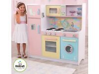 idkraft Deluxe Culinary Pastel Wooden Play Kitchen Kids Childs Girls RRP£125NEW