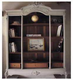 shabby chic french antique wardrobe bookshelves london