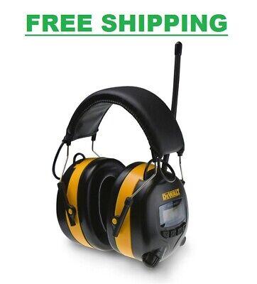 Dewalt Digital Ear Muff Amfm Radio Earmuffs Aux Input Mp3 Phone Plug Headphones