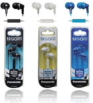 Panasonic RP-TCM125 Colored ErgoFit In-Ear W/Mic&Remote Headphones -Genuine &New