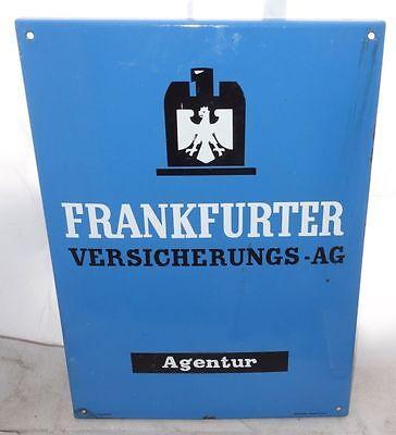 altes Emailschild Frankfurter Versicherung