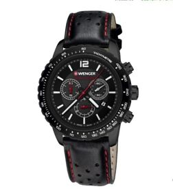 Mens Wenger Watch Roadster Black Night Chronograph