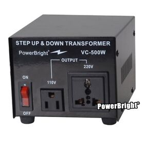 Step up and down converter- 500w - brand new condition