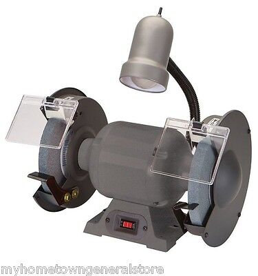 "NEW Professional Grade 8"" Bench Top Grinder with Flexible Light"