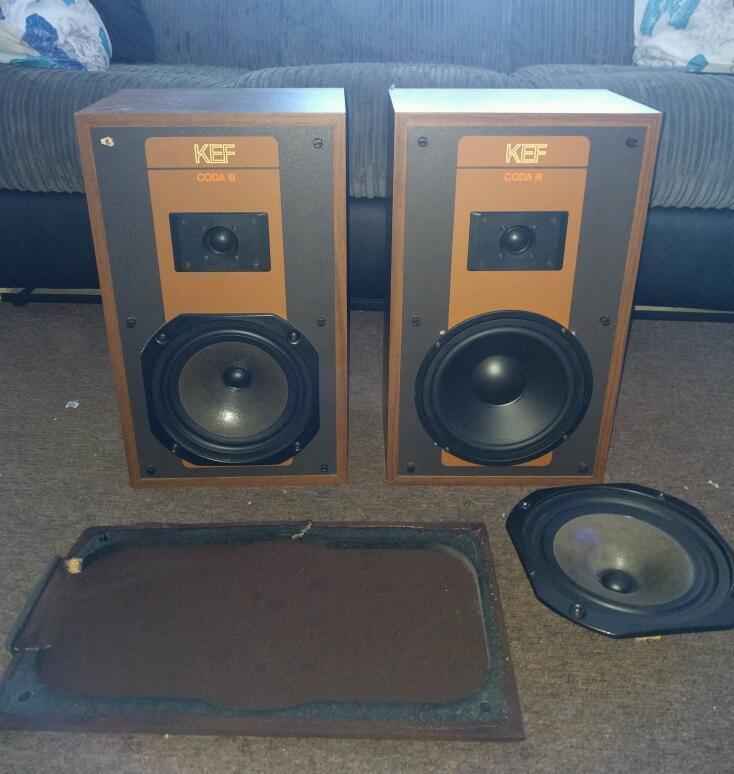 kef coda 3. kef coda 3 vintage reference speakers n