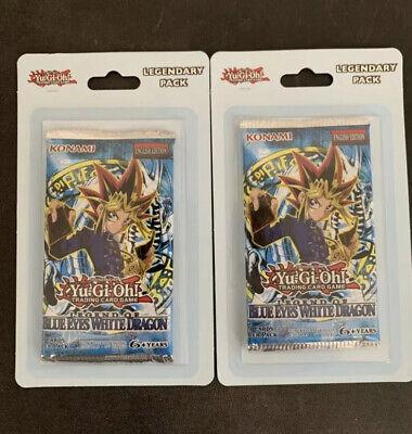 Yu-Gi-Oh yugioh Legend Of Blue Eyes White Dragon Blister Booster Packs (x2)
