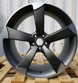 "LATEST 19"" ROTOR BLACK EDITION ALLOY WHEELS X4 BOXED 5X112 AUDI A4 A5 A6 A7 A8 TT VW SCIROCCO"