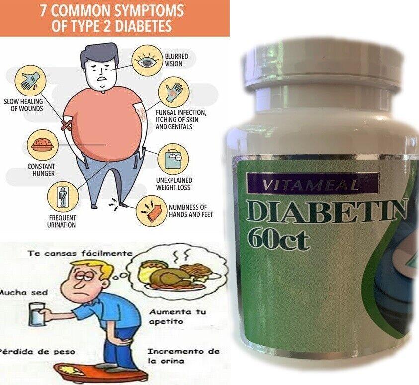 1 DIABETIN 60 CAP DIABETIS  VITA GLUTTEN Bacterium CURE 40 % Off Diabetin