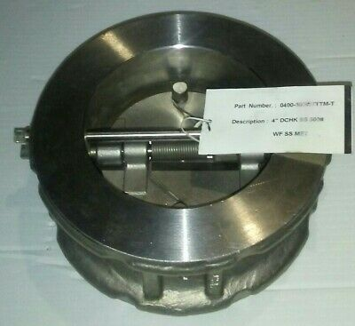 Ssi 0400-300wtttm-t 4 Stainless Check Valve Wafer New Free Shipping