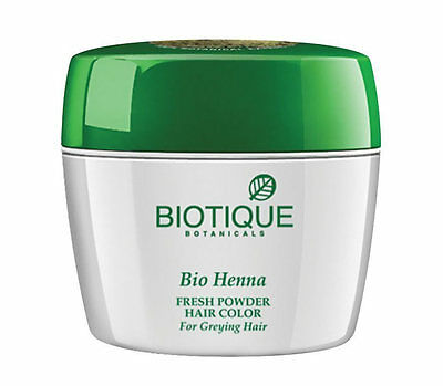Fresh Henna - 1X Biotique Bio Henna Fresh Powder Hair Color For Graying Hair 90 gm USA Seller