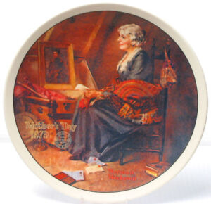 "Norman Rockwell "" Mothers Day"" Collector Plate"
