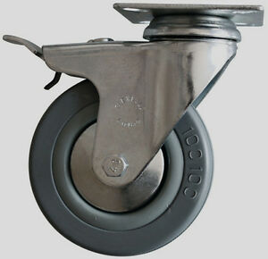 "4.5"" Castors / Wheels - Sets of 4 - 2 Locking - 2 strait Edmonton Edmonton Area image 1"