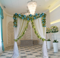 Custom wedding floral arches for rent