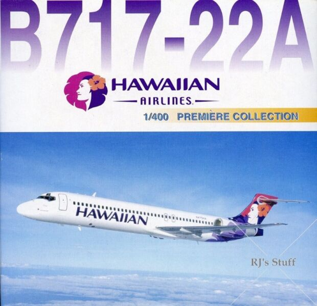 RARE HAWAIIAN AIRLINES Boeing 717-22A 1:400 scale Model Aircraft #55294 from Dragon Wings