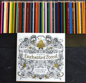 BNWOT Enchanted Forest Coloring Book w/ pencil crayons