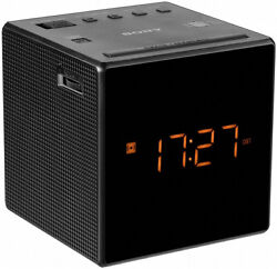 ESSENTIAL SONY ICF-C1T AM/FM DUAL-ALARM DIGITAL CLOCK RADIO - DECORATOR BLACK