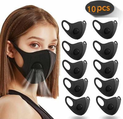 1-10 Pcs Washable Face Mask Breathable Haze Safety ProtectIve Mouth Face Mask