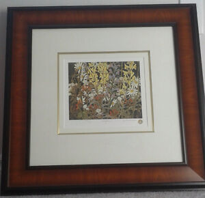 """Tom Thomson Group of Seven framed numbered print """"Wildflowers"""""""